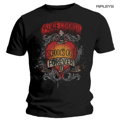 Official Metal T Shirt ALICE COOPER Classic 'School's Out Forever' All Sizes