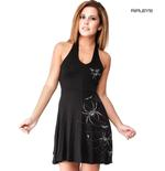 ALCHEMY England Gothic Mini Dress Top 'Spidrasica' Spider Webs All Sizes Thumbnail 1