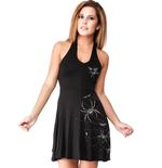 Outer Vision ALCHEMY England Goth 'Spidrasica' Spider Webs Mini Dress All Sizes Thumbnail 2