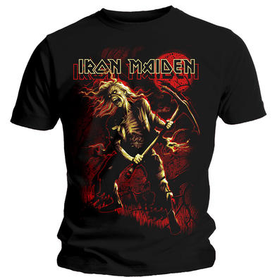 Official T Shirt IRON MAIDEN Heavy Metal 'Red Moon' Benjamin Breeg Graphic