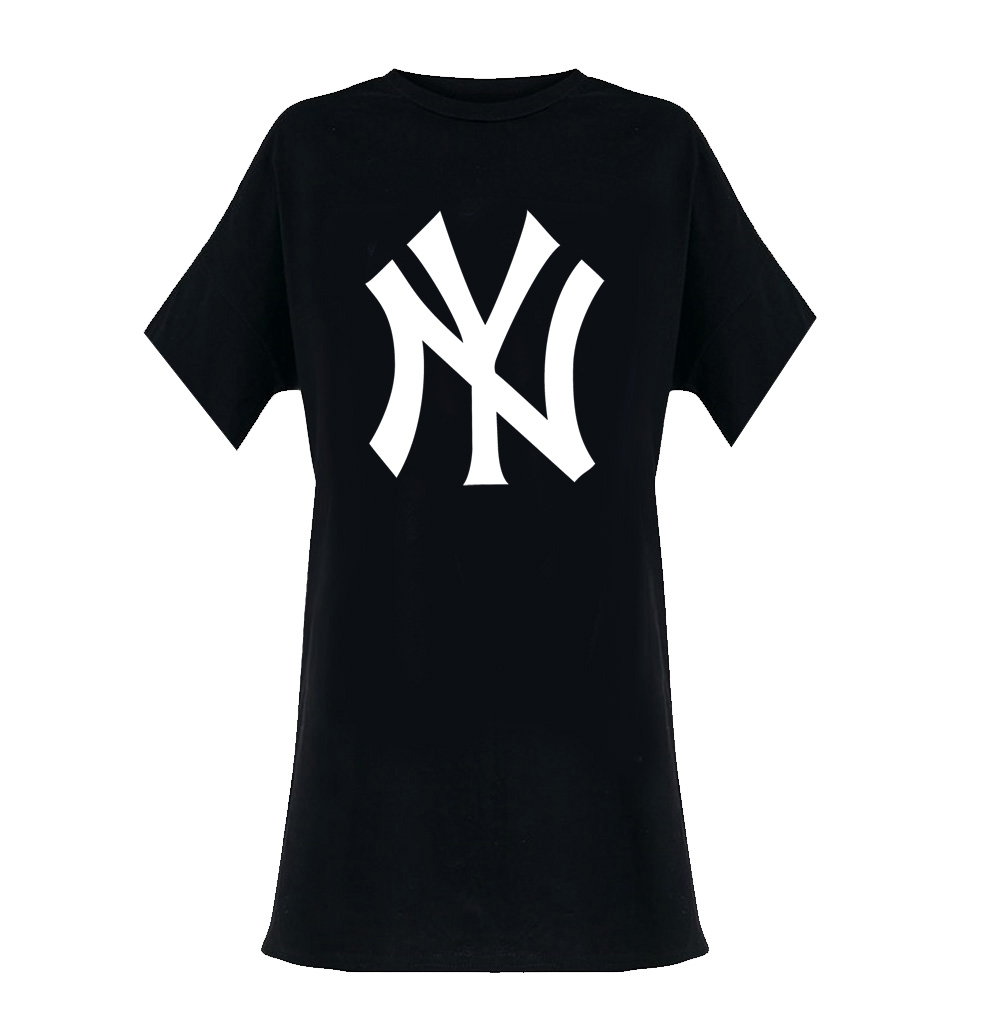 Sentinel Official Ladies T Shirt Oversized DRESS New York Yankees Classic  Logo All Sizes 86ae95831d2