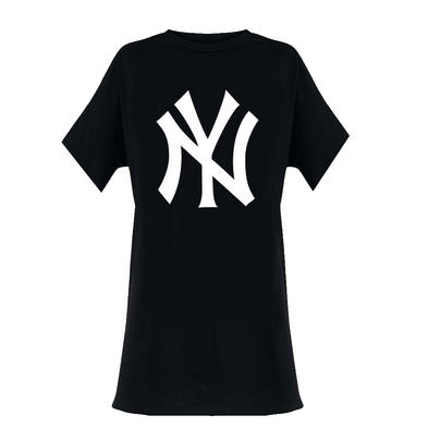 Official Ladies T Shirt Oversized New York Yankees Classic Logo All Sizes