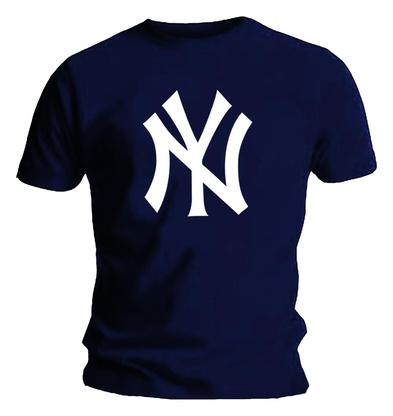 Official T Shirt Navy Blue NEW YORK Yankees American Baseball Logo