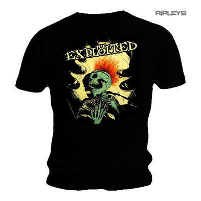 Official T Shirt THE EXPLOITED Punks Not Dead SPLATTER#2 Skeleton All Sizes