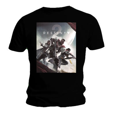 Official Gaming T Shirt DESTINY 2 Forsaken Logo 'Poster' Characters