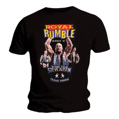 Official Unisex T Shirt WWE Wrestling 'Royal Rumble' Winner '97 Stone Cold Steve