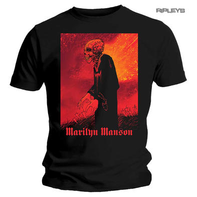 Official T Shirt MARILYN MANSON Heaven Upside Down 'Mad Monk' All Sizes