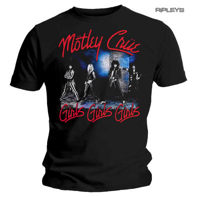 Official Metal T Shirt MOTLEY CRUE Girls Girls Girls 'Smokey Street' All Sizes