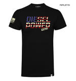 Official DPG T Shirt Diesel Power Gear Black FREEDOM USA Flag Logo All Sizes Thumbnail 1
