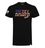 Official DPG T Shirt Diesel Power Gear Black FREEDOM USA Flag Logo All Sizes Thumbnail 2