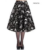 Hell Bunny Pin Up 50s Skirt Halloween Ghosts Witch SPOOKY Gothic Black All Sizes Thumbnail 1