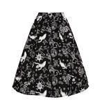 Hell Bunny Pin Up 50s Skirt Halloween Ghosts Witch SPOOKY Gothic Black All Sizes Thumbnail 6