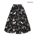 Hell Bunny Pin Up 50s Skirt Halloween Ghosts Witch SPOOKY Gothic Black All Sizes Thumbnail 5