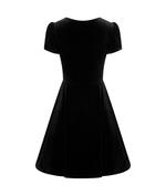 Hell Bunny 40s 50s Elegant Pin Up Dress JOANNE Crushed Velvet Black All Sizes Thumbnail 6