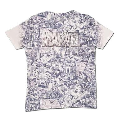 Official T Shirt MARVEL Comics All Over MONTAGE Sublimation