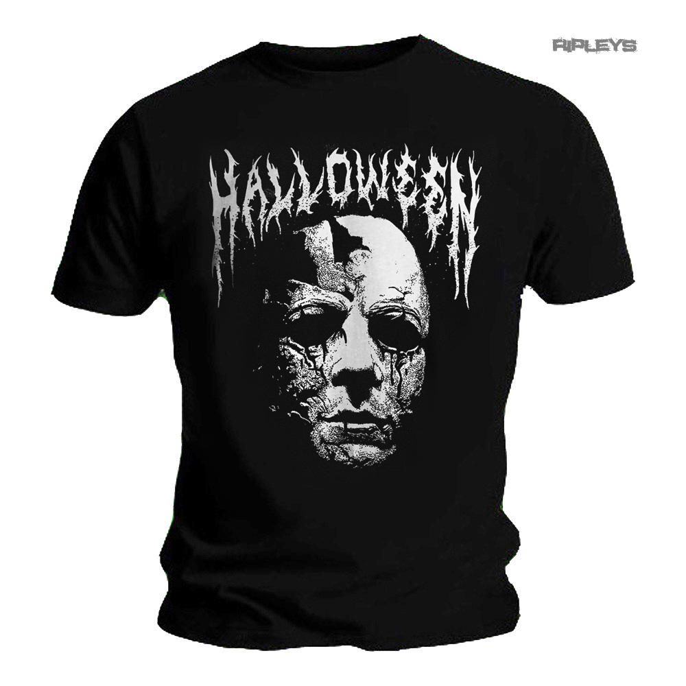 b9845b902 Official T Shirt HALLOWEEN Horror Michael Myers 'Black Metal' Logo All Sizes