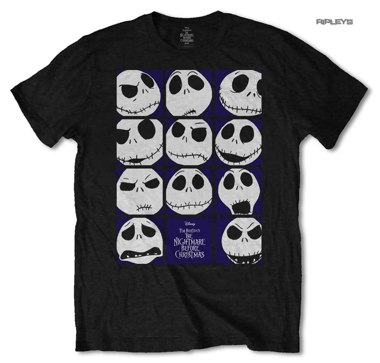 Official T Shirt Nightmare Before Christmas BLOCKHEADS Jack ...