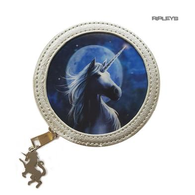 ANNE STOKES 3D Coin Purse Wallet PVC Silver Unicorn Fantasy 'Starlight' #1