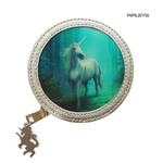 ANNE STOKES 3D Coin Purse Wallet PVC Silver Unicorn Fantasy 'Forest Unicorn' #2 Thumbnail 1