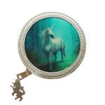ANNE STOKES 3D Coin Purse Wallet PVC Silver Unicorn Fantasy 'Forest Unicorn' #2 Thumbnail 2