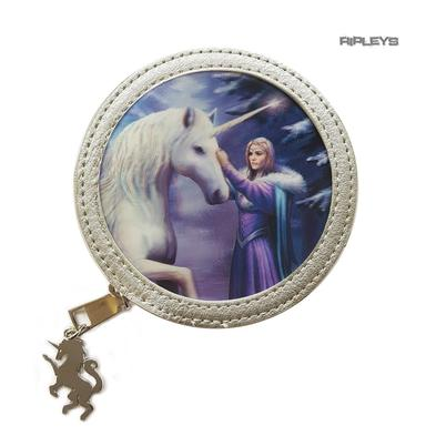 ANNE STOKES 3D Coin Purse Wallet PVC Silver Unicorn Fantasy 'Pure Magic' #4