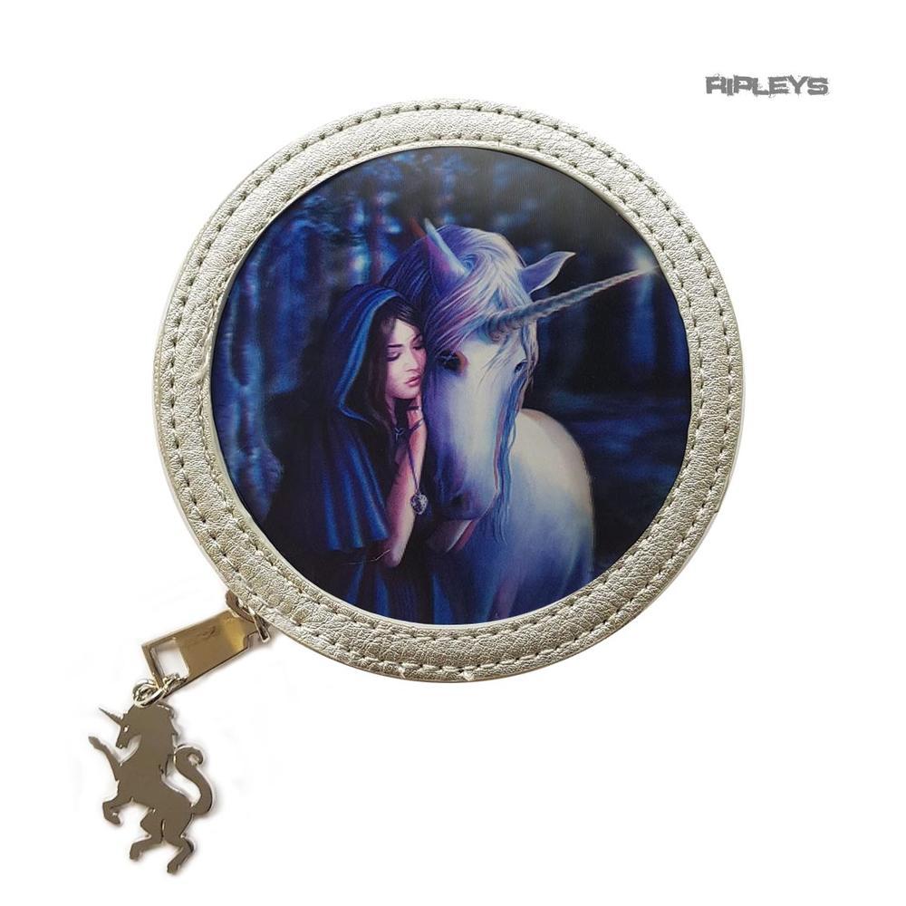 ANNE STOKES 3D Round Circular Hand Bag Black PVC Goth Mermaid /'Sirens Lament/'