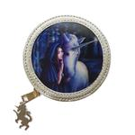 ANNE STOKES 3D Coin Purse Wallet PVC Silver Unicorn Fantasy 'Solace' #5 Thumbnail 2