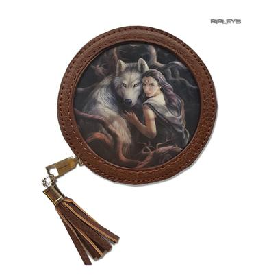 ANNE STOKES 3D Coin Purse Wallet Brown Wolf Fantasy 'Soul Bond' #7