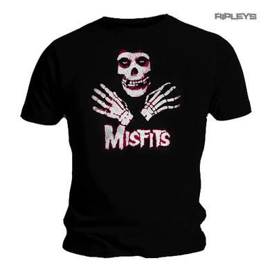 Official T Shirt MISFITS Crimson Fiend Skeleton Skull 'Hands' All Sizes