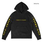 Official Twenty one 21 Pilots Black Hoody Hoodie LOGO HEAVY Trench All Sizes Thumbnail 1