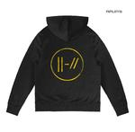 Official Twenty one 21 Pilots Black Hoody Hoodie LOGO HEAVY Trench All Sizes Thumbnail 3