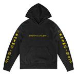 Official Twenty one 21 Pilots Black Hoody Hoodie LOGO HEAVY Trench All Sizes Thumbnail 2