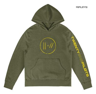 Official Twenty one 21 Pilots Olive Green Hoody Hoodie JUMPSEAL Trench All Sizes Preview
