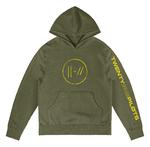 Official Twenty one 21 Pilots Olive Green Hoody Hoodie JUMPSEAL Trench All Sizes Thumbnail 2