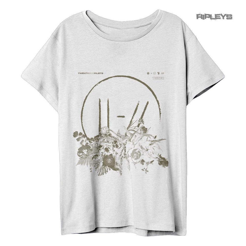 ba03bfd5 Official Ladies Relax Fit T Shirt 21 Twenty One Pilots FLOWER BED Trench  All Siz