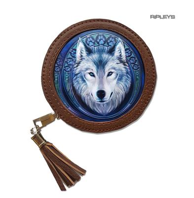 ANNE STOKES 3D Coin Purse Wallet Brown Fantasy Winter 'Lunar Wolf' #8