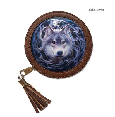 ANNE STOKES 3D Coin Purse Wallet Brown Fantasy Wolf 'Night Forest' #9