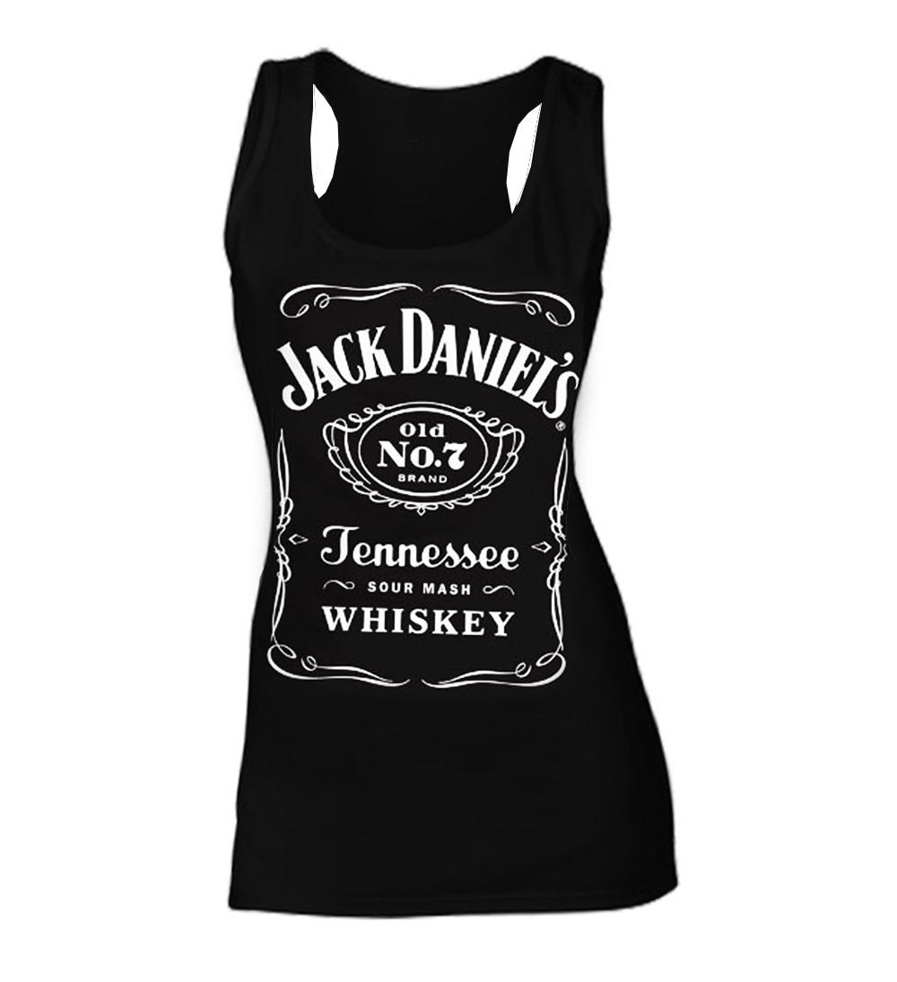Official-Skinny-Tank-Jack-Daniels-Black-Classic-No-7-Logo-VEST-Top-All-Sizes thumbnail 7
