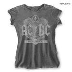 Official Skinny T Shirt ACDC AC/DC Vintage  Black Ice  ACID Wash All Sizes Thumbnail 1