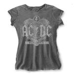 Official Skinny T Shirt ACDC AC/DC Vintage  Black Ice  ACID Wash All Sizes Thumbnail 2