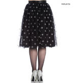 Hell Bunny 50s Black Christmas Skirt SNOWSTAR Glitter Snowflakes All Sizes Thumbnail 3