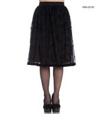 Hell Bunny 50s Black Gothic Vampire Skirt AMARANDE Bats Spider Webs All Sizes Thumbnail 1