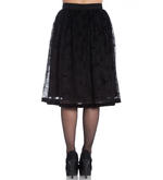 Hell Bunny 50s Black Gothic Vampire Skirt AMARANDE Bats Spider Webs All Sizes Thumbnail 4