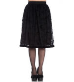 Hell Bunny 50s Black Gothic Vampire Skirt AMARANDE Bats Spider Webs All Sizes Thumbnail 2