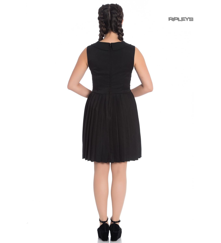 d9e13959f33a Sentinel Hell Bunny 40s 50s Mini Skater Tea Dress JOSEPHINE Black All Sizes