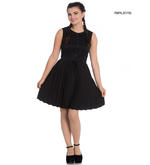 Hell Bunny 40s 50s Mini Skater Tea Dress JOSEPHINE Black All Sizes Thumbnail 1