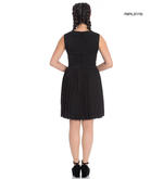 Hell Bunny 40s 50s Mini Skater Tea Dress JOSEPHINE Black All Sizes Thumbnail 3