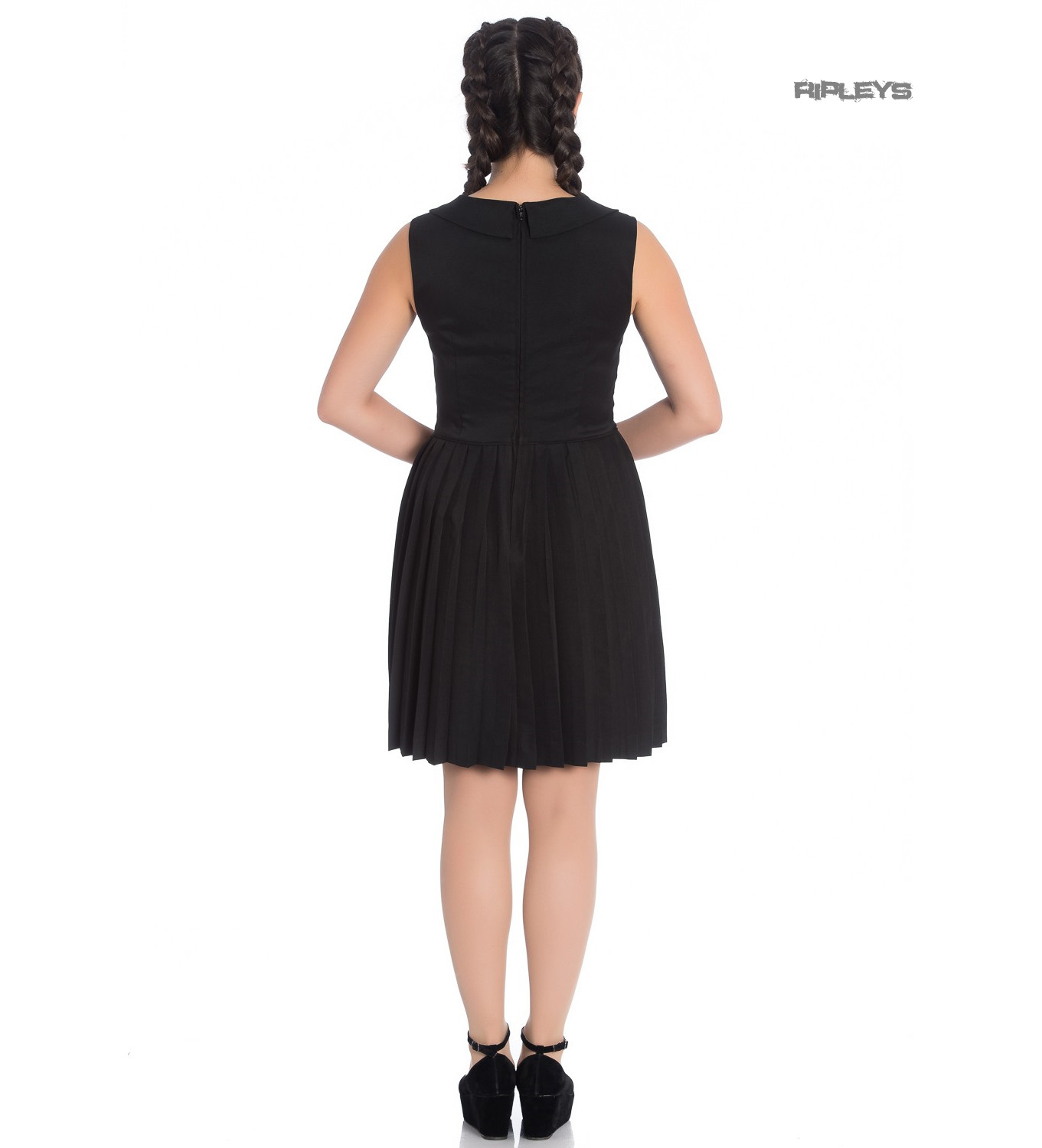 Hell-Bunny-40s-50s-Mini-Skater-Tea-Dress-JOSEPHINE-Black-All-Sizes thumbnail 12
