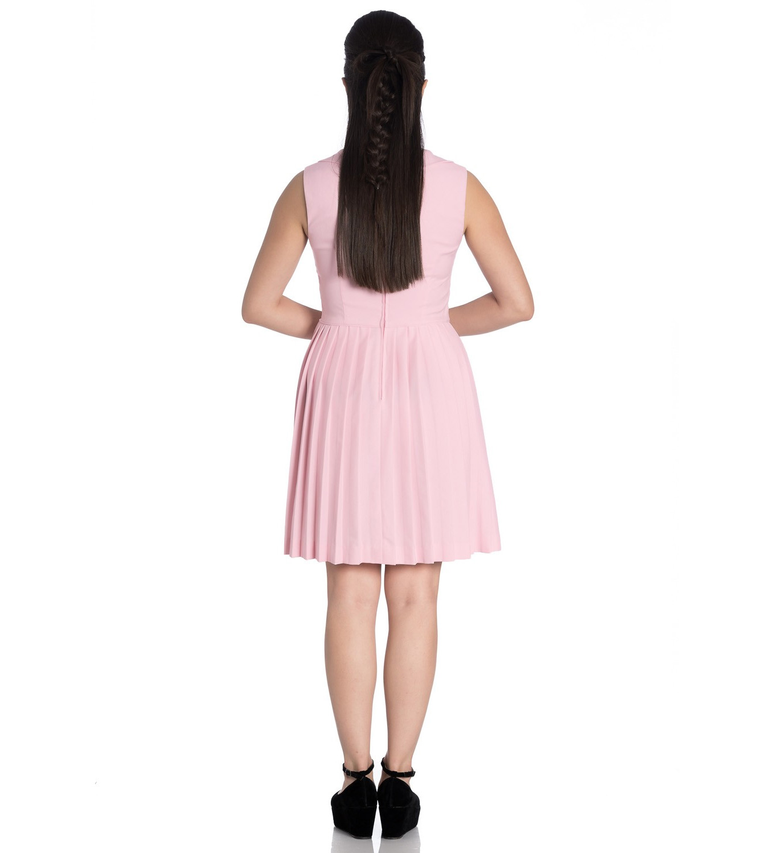Hell-Bunny-40s-50s-Mini-Skater-Tea-Dress-JOSEPHINE-Dusty-Pink-All-Sizes thumbnail 33