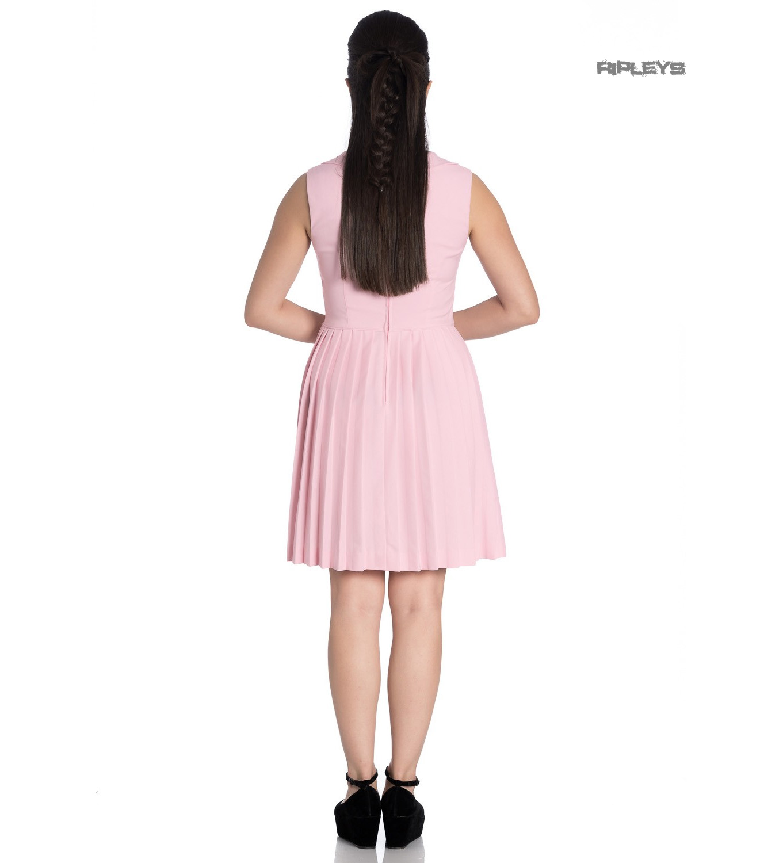 Hell-Bunny-40s-50s-Mini-Skater-Tea-Dress-JOSEPHINE-Dusty-Pink-All-Sizes thumbnail 4
